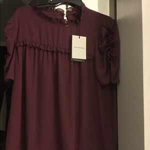 Who What Wear Ruched Blouse. NWT Sz L